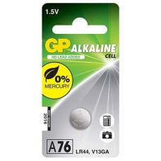 GP A76 (AG13, LR44) alkalická knoflíková baterie 1,5V