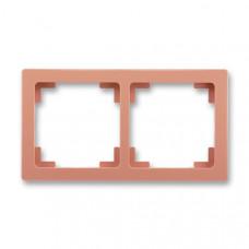 ABB Swing L 3901J-A00020 R3 rámeček dvojnásobný, cihlový