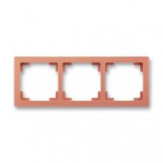 ABB Swing L 3901J-A00030 R3 rámeček trojnásobný, cihlový