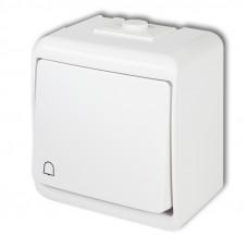 Karlik Junior WHE-4 ovladač tlačítkový na povrch řazení 1/0 IP54 bílý