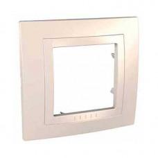 UNICA MGU2.002.25 krycí rámeček jednonásobný Basic, Marfil /MGU200225/