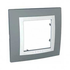 UNICA MGU2.002.858 krycí rámeček jednonásobný Basic, Technico/Polar /MGU2002858/