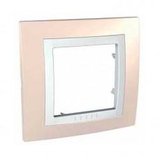 UNICA MGU2.002.859 krycí rámeček jednonásobný Basic, Cream/Polar /MGU2002859/