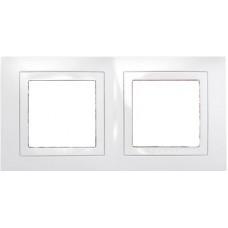 UNICA MGU2.004.18 krycí rámeček dvojnásobný Basic, Polar /MGU200418/