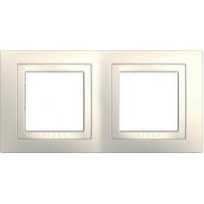 UNICA MGU2.004.25 krycí rámeček dvojnásobný Basic, Marfil /MGU200425/