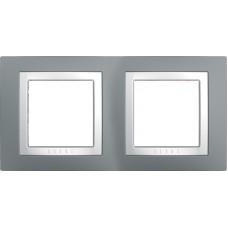 UNICA MGU2.004.858 krycí rámeček dvojnásobný Basic, Technico/Polar /MGU2004858/