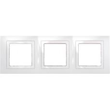 UNICA MGU2.006.18 krycí rámeček trojnásobný Basic, Polar /MGU200618/