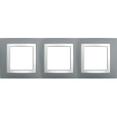UNICA MGU2.006.858 krycí rámeček trojnásobný Basic, Technico/Polar /MGU2006858/