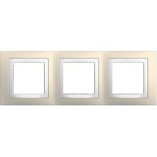 UNICA MGU2.006.859 krycí rámeček trojnásobný Basic, Cream/Polar /MGU2006859/