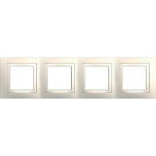 UNICA MGU2.008.25 krycí rámeček čtyřnásobný Basic, Marfil /MGU200825/