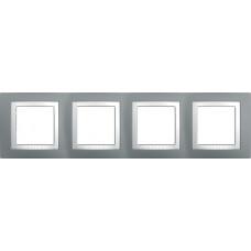 UNICA MGU2.008.858 krycí rámeček čtyřnásobný Basic, Technico/Polar /MGU2008858/