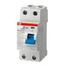 ABB F202 AC-25/0,03 dvoupólový proudový chránič 25A 30mA /2CSF202001R1250/