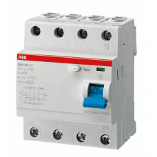 ABB F204 AC-25/0,03 čtyřpólový proudový chránič 25A 30mA /2CSF204001R1250/