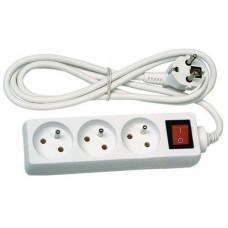 Prodlužovací kabel s vypínačem 3 zásuvky 3m