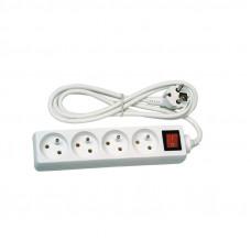 Prodlužovací kabel s vypínačem 4 zásuvky 1,5m