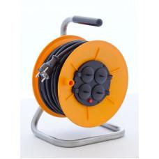Munos 1000110 naviják prodlužovací gumový kabel 3x1,5 25m 4 zásuvky