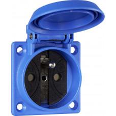 ABL 1662052 vestavná zásuvka 230V, modrá IP54