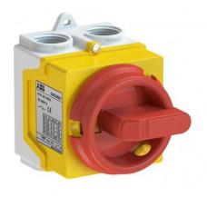 ABB ONE20M3Y odpínač v krytu IP67 20A 3P žluto-červený /1SCA135536R1001/