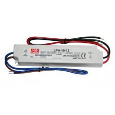 Meanwell LPH-18-12 LED transformátor 12V 18W IP67
