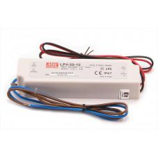 Meanwell LPV-35-12 LED transformátor 12V 35W IP67